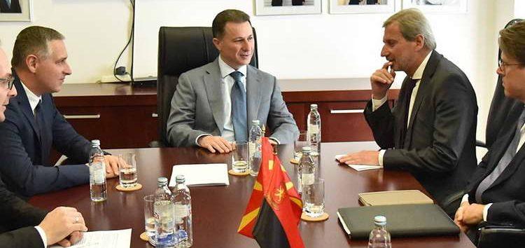 Груевски до Хан: ВМРО-ДПМНЕ ќе ги поддржи сите реформи кои се од интерес за граѓаните