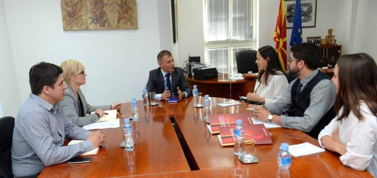 """Средба на министерот Адеми со претставници на организацијата """"Македонија 2025"""""""