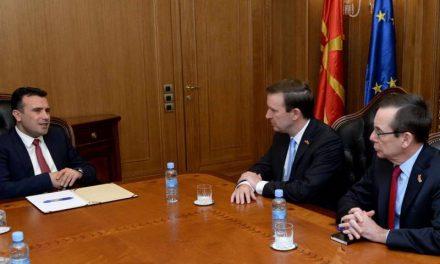 Заев – Марфи: Македонија се движи во правилна насока на патот кон НАТО и ЕУ