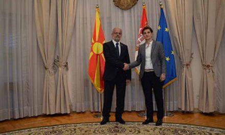 Средба на Џафери со претседателката на Владата на Србија, Ана Брнабиќ