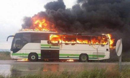 Гром удри во автобус со патници во Грција, нема повредени