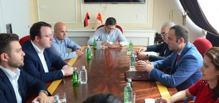 """Османи го претстави планот """"18"""" пред претставници на ВМРО-ДПМНЕ"""