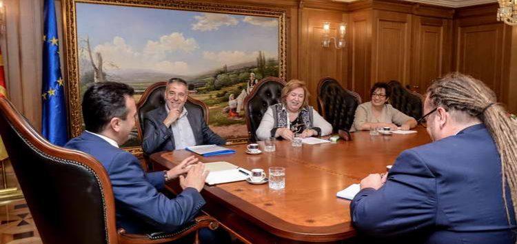Делегација на Институтот за национална историја кај премиерот Заев