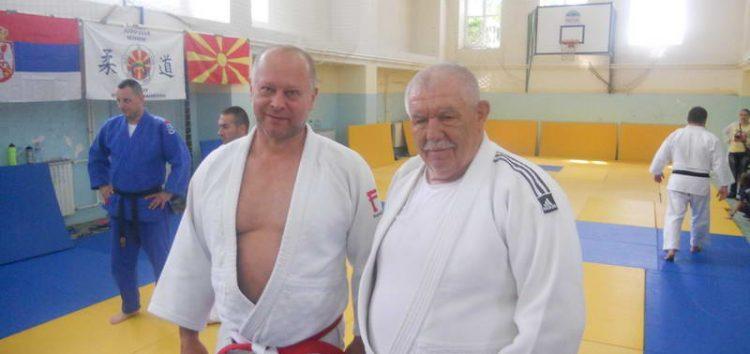Југословенската спортска легенда Славко Обадов, гостин на тридневниот семинар за џудо во Прилеп