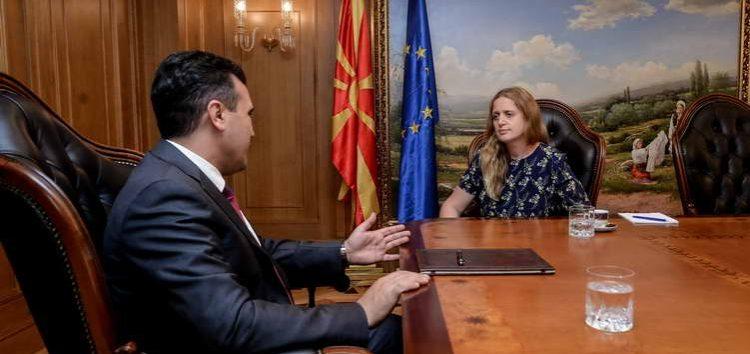 Заев ја прими новата амбасадорка на Обединетото Кралство, Рејчел Галовеј