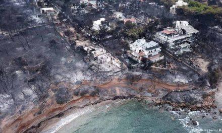 Бројот на загинати во пожарите во Грција и натаму расте