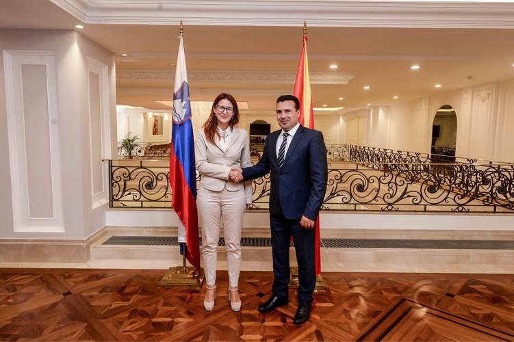 Средба Заев-Катич: Словенија ја охрабрува Македонија да продолжи напред кон евро-атлантските интеграции