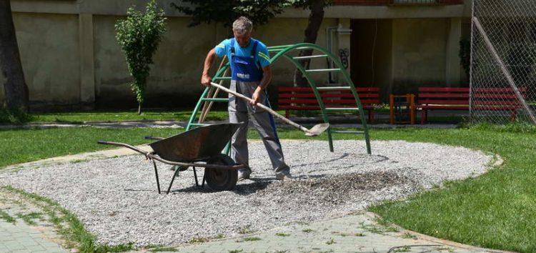Уредување на парковските површини во населбата Димо Наредникот