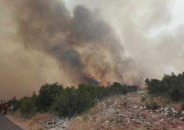 Голем пожар беснее на грчкиот остров Евија
