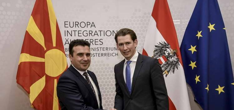 Канцеларот на Република Австрија, Себастијан Курц, во петок доаѓа во Македонија