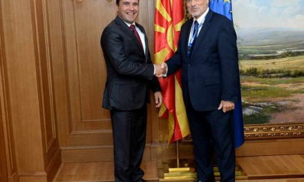 Средба на премиерот Заев со шефот на набљудувачката мисија на ОБСЕ/ОДИХР за референдумот, Петерсен