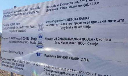 Сугарески: Изградбата на експресниот пат Ранковце – Крива Паланка во полн ек
