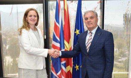 Градоначалникот Јованоски и британската амбасадорка Галовеј разговараа за актуелни општествено-политички прашања