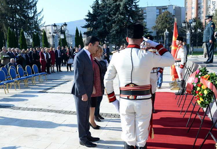 Владини делегации оддадоа почит на загинатите борци во НОВ 1941-1945