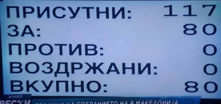 """Собранието со 80 гласа """"за"""" ја донесе одлуката за потреба од уставни измени"""