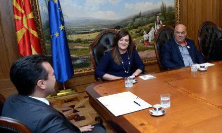 Заев на средба со делегација од Европската федерација на банки за храна