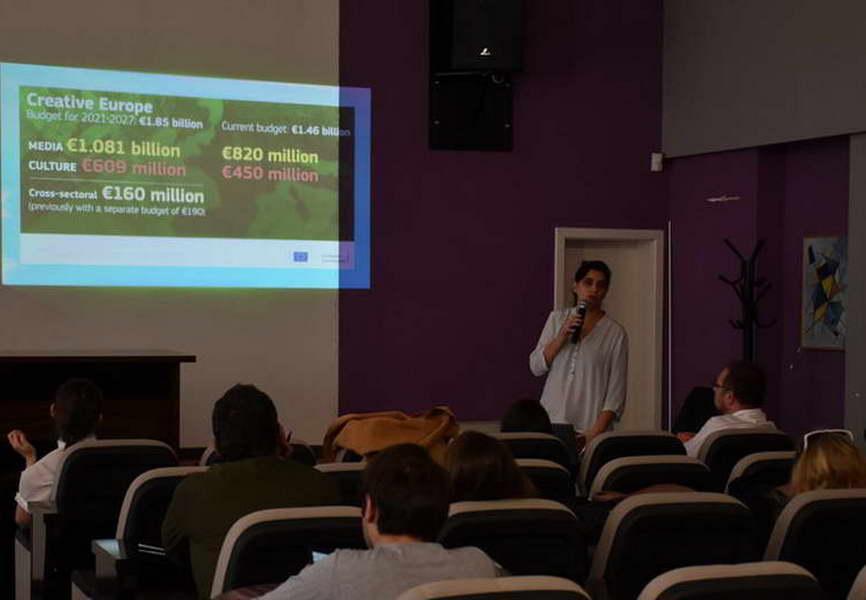 """Информативна сесија за користење на фондовите од Програмата """"Креативна Европа на ЕУ"""""""