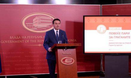 Сугарески го презентираше предлог буџетот за транспорт и врски за 2019 година