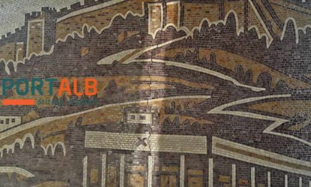 """Распука мозаикот на плоштадот """"Скендербег"""""""