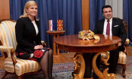 Грабар – Китаровиќ: Хрватска силно ќе ги поддржи процесите за членство на Македонија во ЕУ и НАТО