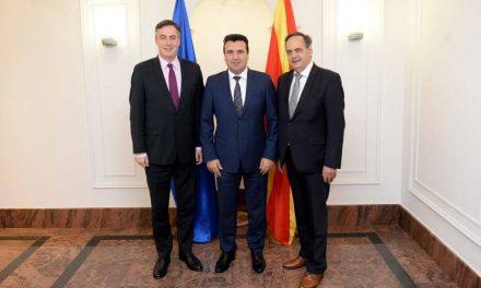 Средба на премиерот Заев со европратениците Мекалистер и Флекенштајн