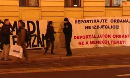 На Самитот на ЦЕИ во Загреб, протест против Орбан