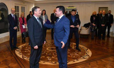 Средба на премиерот Заев со делегација на Министерството за одбрана на Словенија