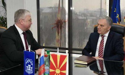 Средба на градоначалникот Јованоски со новоименуваниот амбасадор на Руската Федерација, Сергеј Баздникин