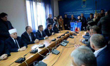 Владина делегација на комеморативната седница во Општина Врапчиште