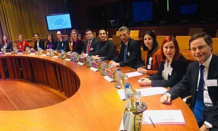 Делегација предводена од Бојан Маричиќ се сретна со Претседателот на Европскиот суд на правдата Коен Ленартс
