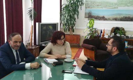 Работна средба на градоначалничката Петровска и министерот Бајрам