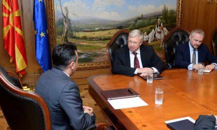 Средба Заев-Бездникин за примопредавање на нотата со која оваа земја го прифати името Република Северна Македонија