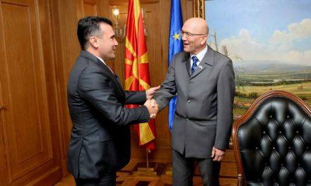 Средба на премиерот Заев со шефот на Канцеларијата за врски на НАТО во Скопје, Јанковиќ
