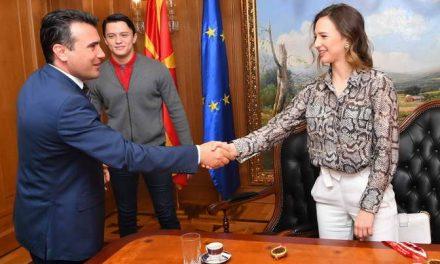 Премиерот Заев на средба со џудистите Берна и Еди Шерифовски