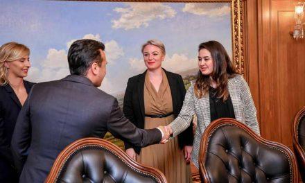 Заев и владина делегација на средба со Жените на Партијата на европските социјалисти