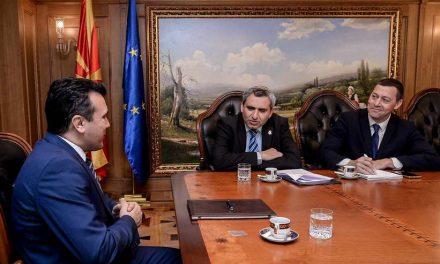 Средба на премиерот Заев со израелскиот министер Елкин: Поздравени се храбрите и успешни политики за НАТО и ЕУ интеграциите