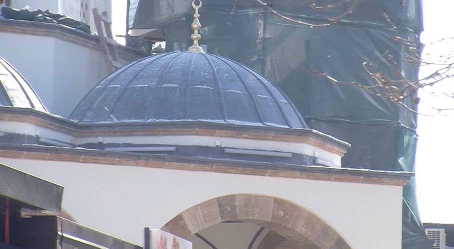Градбата на минарето на Алипашината џамија во Охрид е стопирана