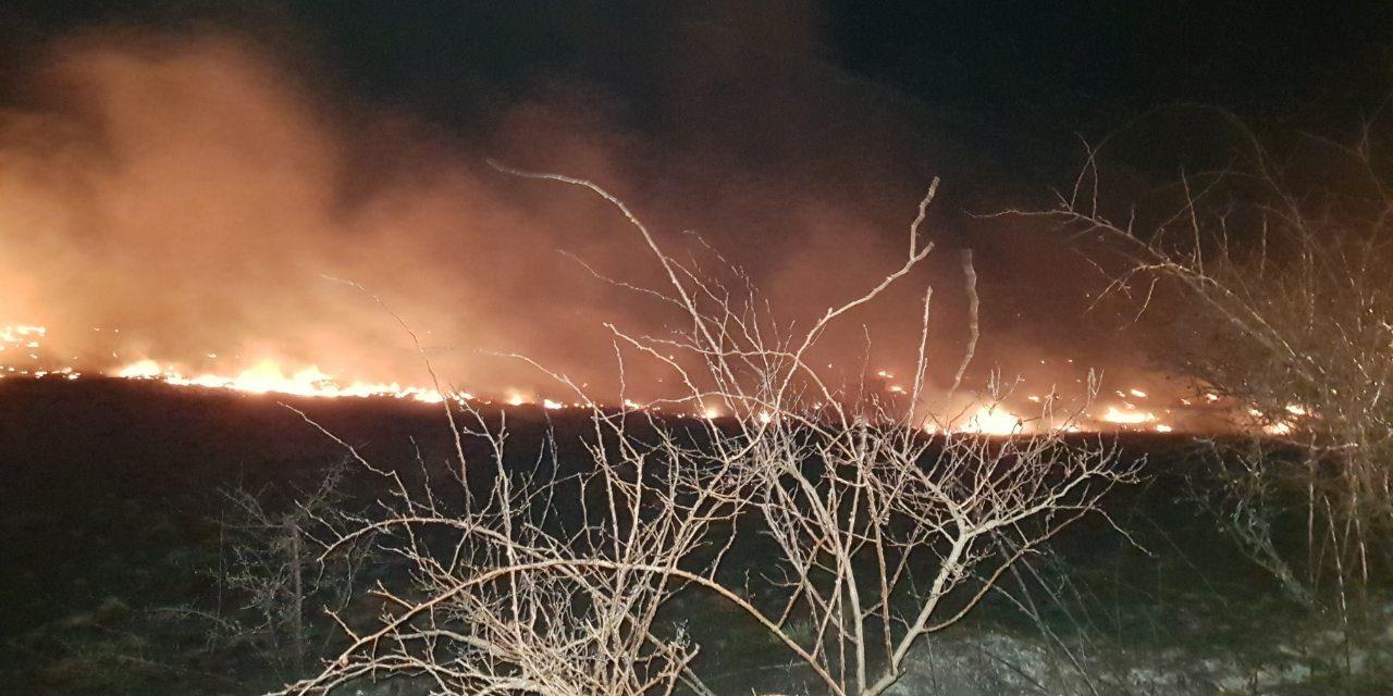 Заради пожар покрај патот, во прекин сообраќајот на патниот правец Прилеп-Градско