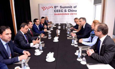Премиерот Заев на трилатерална средба со премиерите на Хрватска и Грција, Пленковиќ и Ципрас