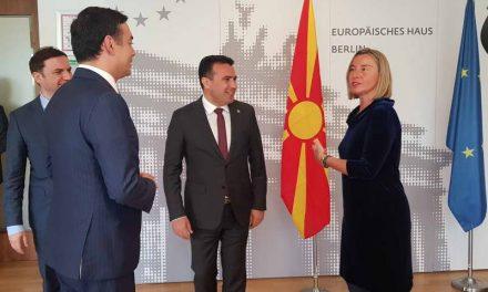 Средба Заев-Могерини: Заради граѓаните, неопходно е земјата да биде поддржана и да продолжи кон европската интеграција