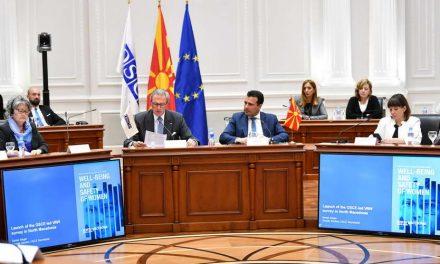 Заев и Царовска на презентација на Извештајот на ОБСЕ за благосостојба и безбедност на жените (видео)