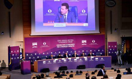 Заев и Тевдовски на Генералното собрание на ЕБОР: Се отвораат нови можности за регионална соработка на Западен Балкан
