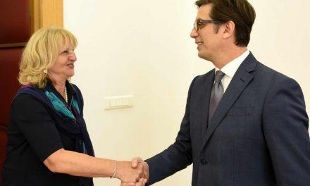 Претседателот Пендаровски ја прими амбасадорката на Србија, Душанка Дивјак – Томиќ