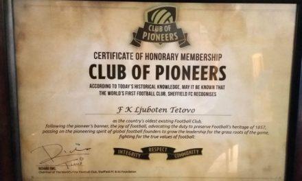 ФК Љуботен доби сертификат дека е 22. најстар фудбалски клуб на светот
