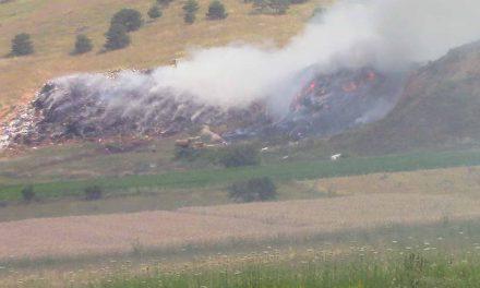 """Подметнат пожар на депонијата """"Алинци"""""""
