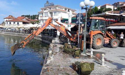 Започна санацијата на дел од Охридското пристаниште
