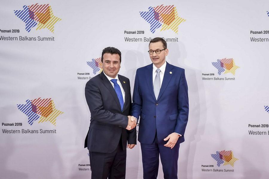 Премиерот Заев на работниот појадок на шефовите на влади на Самитот на земјите од Западен Балкан во Познањ
