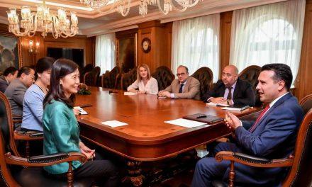 Средба на премиерот Заев со кинеската амбасадорка Лисјен: Се развива економската соработка меѓу двете држави