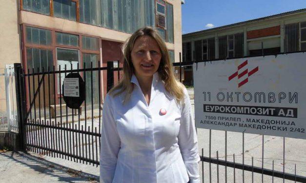 """Кети Смилеска: Ја исправаме долгогодишната неправда кон вработените од """"Еурокомпозит"""""""