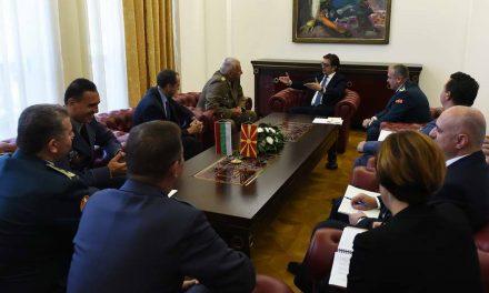 Претседателот Пендаровски прими делегација на Вооружените сили на Република Бугарија